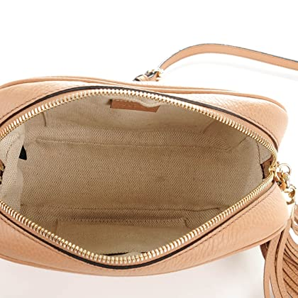 90d5a67e5f6 ... GUCCI Soho Disco Camelia Beige Rose Pink Light brown Leather Crossbody  Bag New ...