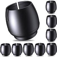 COTTONIX Stoelpootdoppen voor stoelpoten, 32 stuks vilten stoelpootbeschermers - siliconen stoelpootdoppen voor ronde…