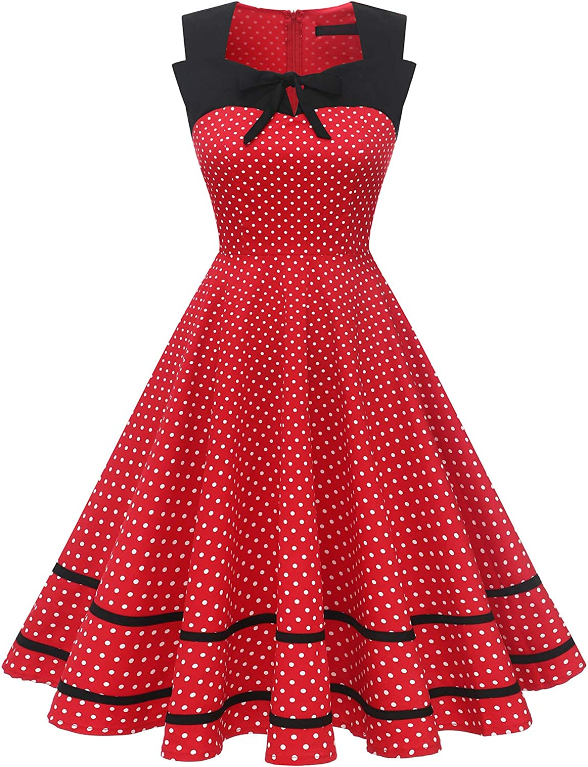 Vintage Polka Dot Dresses – 50s Spotty and Ditsy Prints Womens 50s Vintage Retro Pinup Style Cocktail Party Swing Wedding Dresses $29.99 AT vintagedancer.com