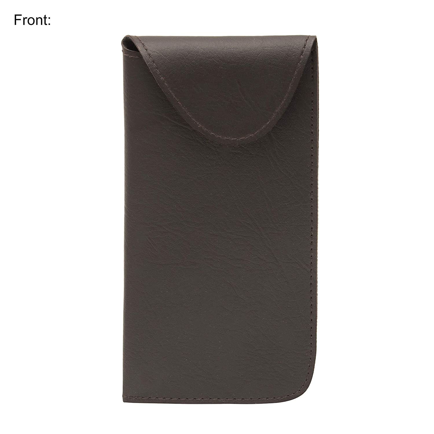 1 Pack, Brown Protects Eyewear from Damages Slip In Glasses Case Sleeve with Pocket Clip