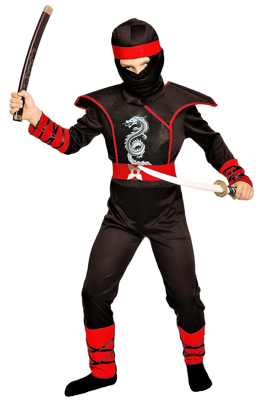 Magi Coo Cobra Ninja Disfraz para Niños Niño Disfraz Rojo y Negro – Ninja Disfraz para Niños