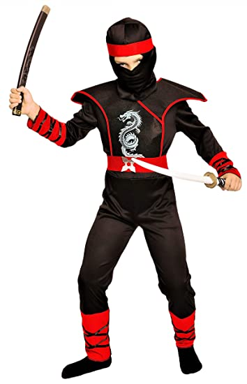 Magicoo Cobra Ninja Kostüm Für Kinder Jungen Rot Schwarz