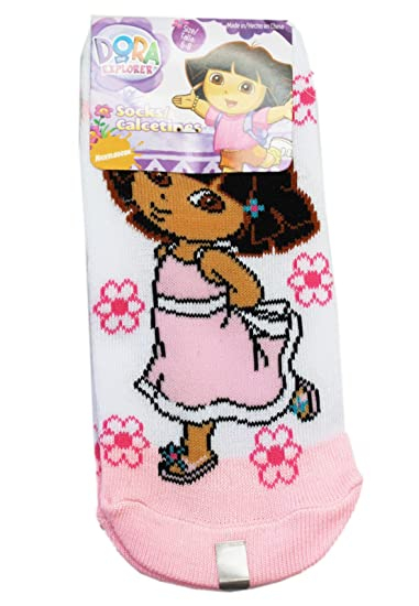 Dora the Explorer Sundress and Flowers Light Pink/White Socks (Size 6-8