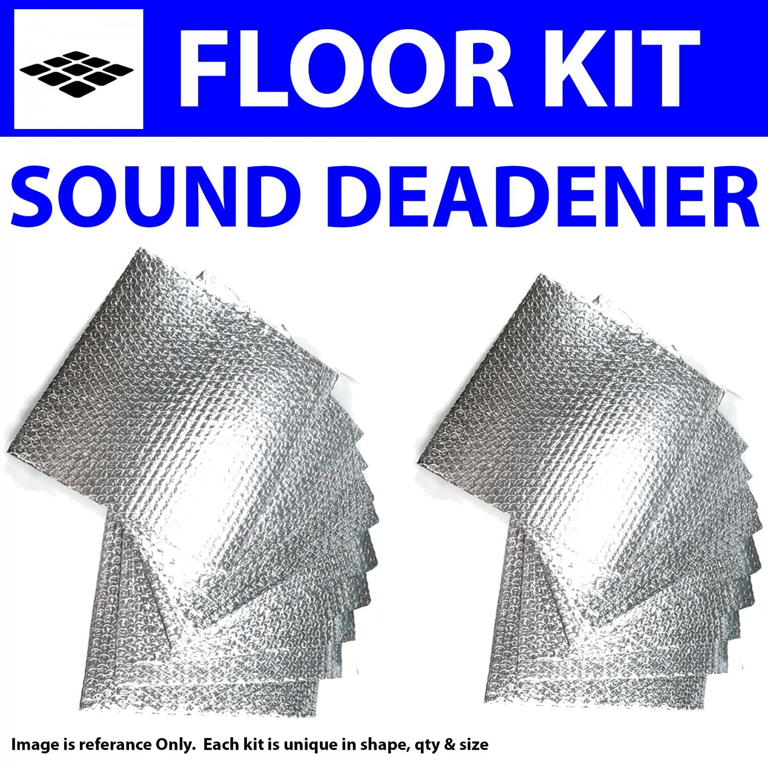 Zirgo 314490 Heat and Sound Deadener for 55-58 Mopar Floor Kit 2876cm2