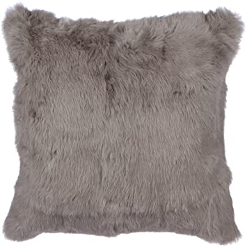 Sova Home Collection Rabbit Fur Pillow Cover 40 X 40 Grey Unique Rabbit Fur Pillow Cover