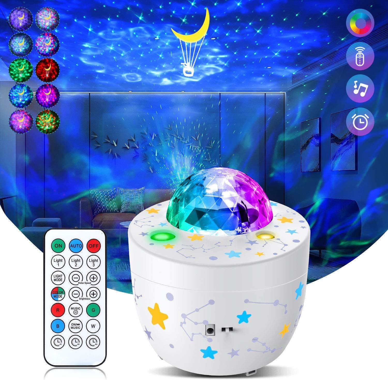 Galaxy Projector Star Projector 3 in 1 Galaxy Globe Projector for Bedroom Decor Galaxy Nova Kids Bedroom Light Remote Control Galaxy Ocean Wave Projector Galaxy 360 Pro Baby Night Light Projector
