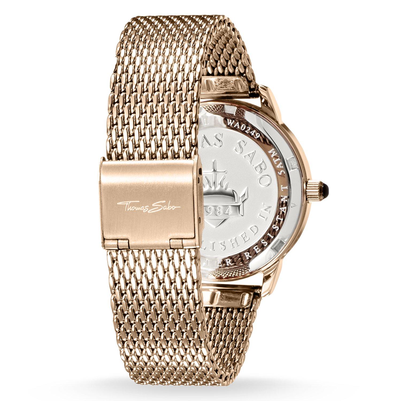 Amazon.com: Thomas Sabo Ladies Glam Spirit Rose Gold, Black Dial WA0249-265-203-33: Watches