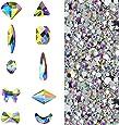 Massive Beads - Cristales 3D AB | Decoración de uñas, piedras de diamante para decoración de uñas, zapatos, bolsos y manualidades