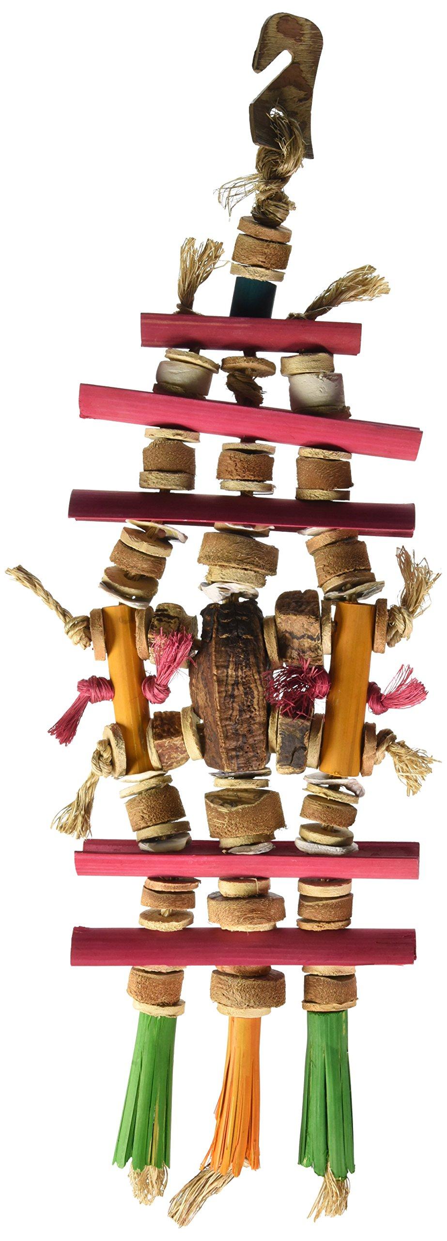 Planet Pleasures Bamboozlers Pagoda Bird Toy, Medium