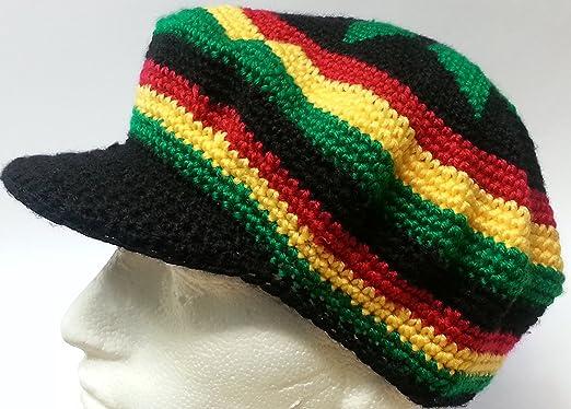 Rasta Tam Hat Crochet Beret In Black Red Yellow Green Redgolden