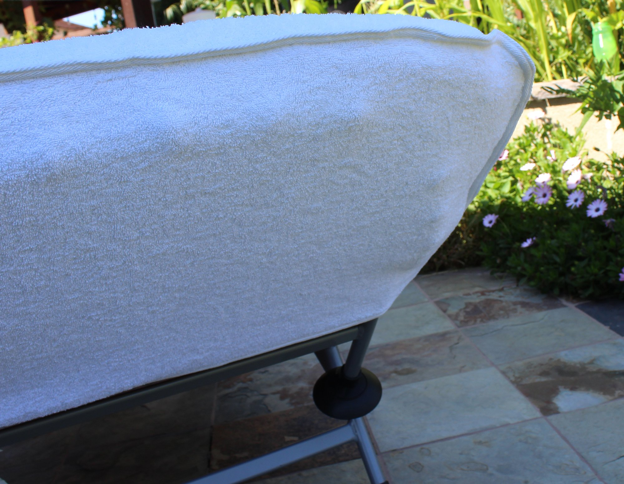 Luxury Hotel & Spa Towel Turkish Cotton Chair Lounge Cover (White, Hotel-Style) by Chakir Turkish Linens (Image #3)