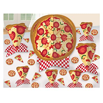 Amscan Pizza Party Table Decorating Kit (1): Toys & Games