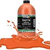 Pouring Masters Citrus Orange Acrylic Ready to Pour Pouring Paint – Premium 32-Ounce Pre-Mixed Water-Based - for Canvas…