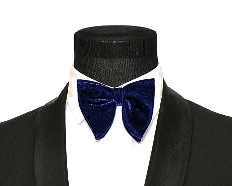 104ecce03f747 Mens FERUCCI Oversized Bow Tie - Tuxedo Blue Velvet Bowtie, Mens big bow tie  (