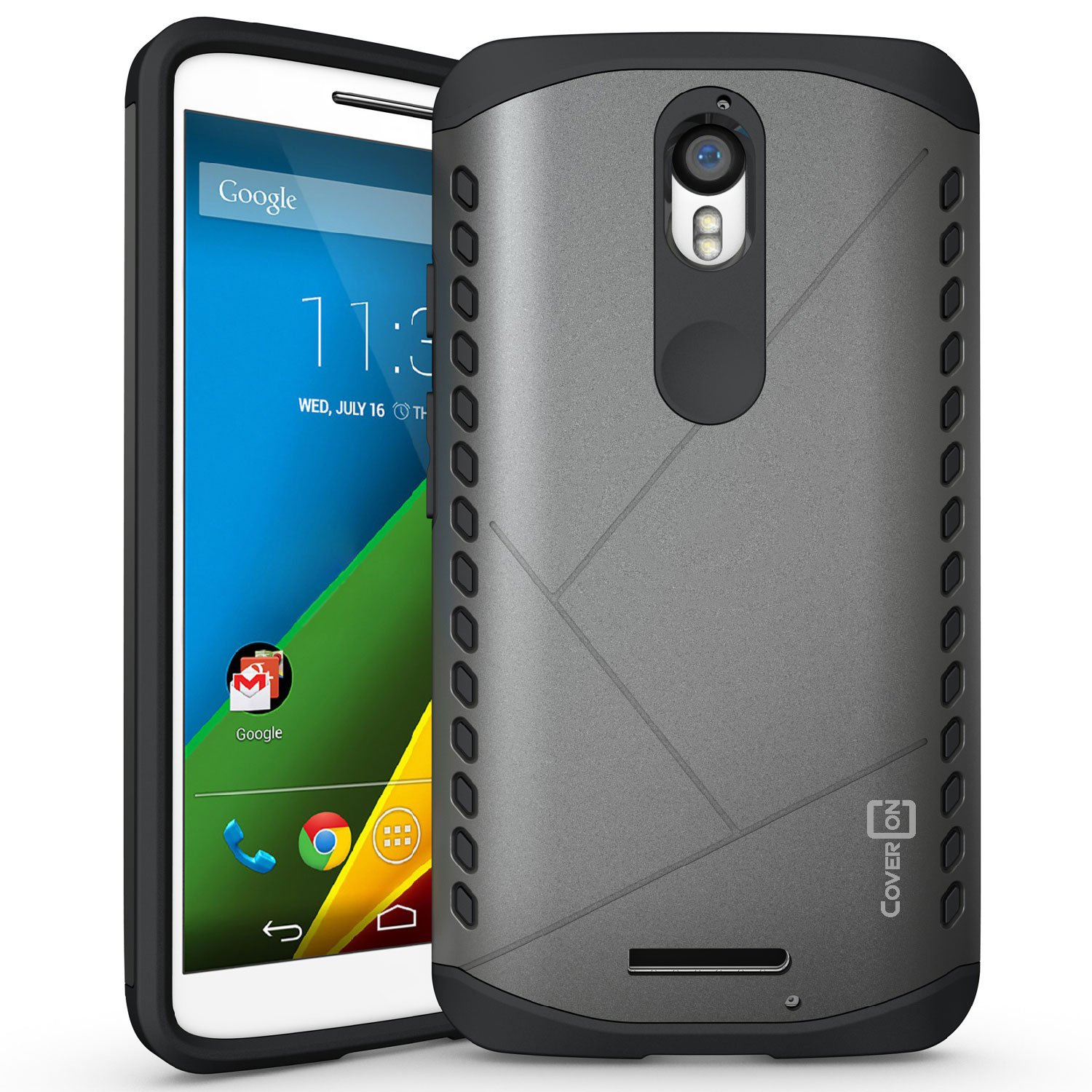 Amazon.com: Droid Turbo 2 Case, CoverON [Paladin Series] Slim Fit Hard Protective Modern Style Phone Case for Motorola Droid Turbo 2 / Moto X Force ...