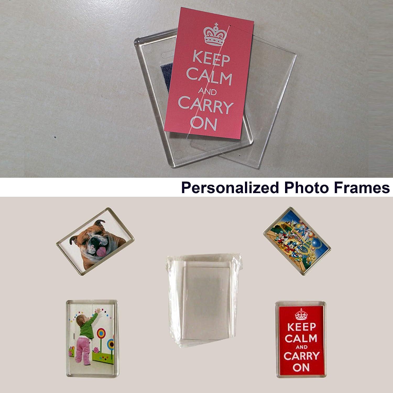 Set da 20 Cornici Foto Magnetiche per Frigo da Kurtzy Cornice Magnetica Perfetta per Foto di Famiglia Opere d/'Arte /& Divertimento per Bambini Magneti Frigo in Acrilico Trasparente con Inserto Foto Dimensioni 7 x4.5cm
