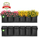 ANGTUO Hanging Garden Planter with 6 Pockets, New Layout Waterproof Wall Hanging Flowerpot Bag is The Perfect Solution…