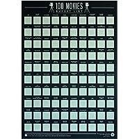 Gift Republic 100Films–Raye Seau Liste Poster, Noir