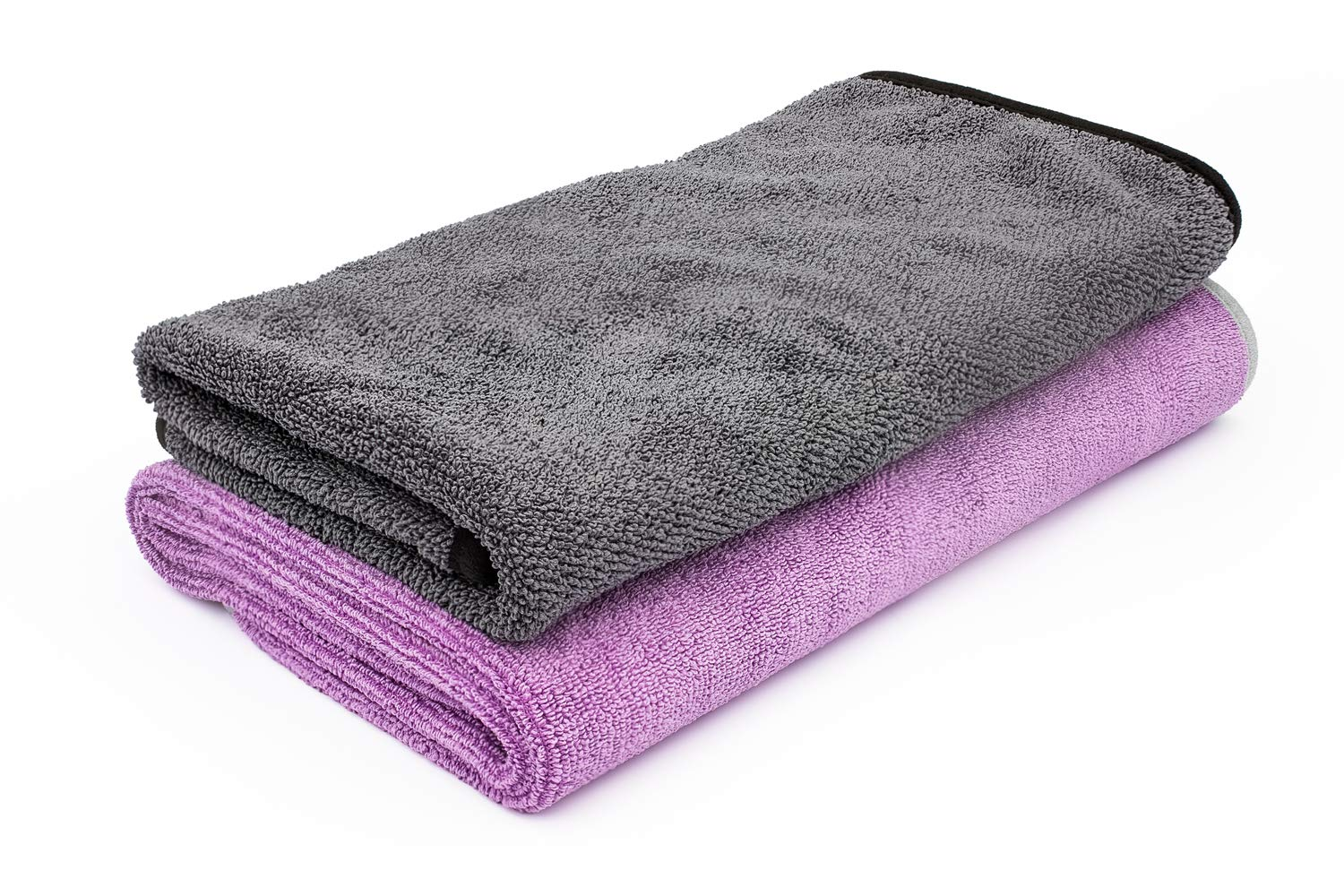 THE RAG COMPANY 25 in. x 36 in. Twist N' Shout and 20 in. x 24 in. Double TWISTRESS Professional Korean 70/30 Twist Loop Microfiber Drying Towel Combo Kit