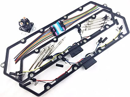 amazon com: 97+ powerstroke 7 3l diesel glow plug kit gaskets harness plugs  relay pigtails: automotive