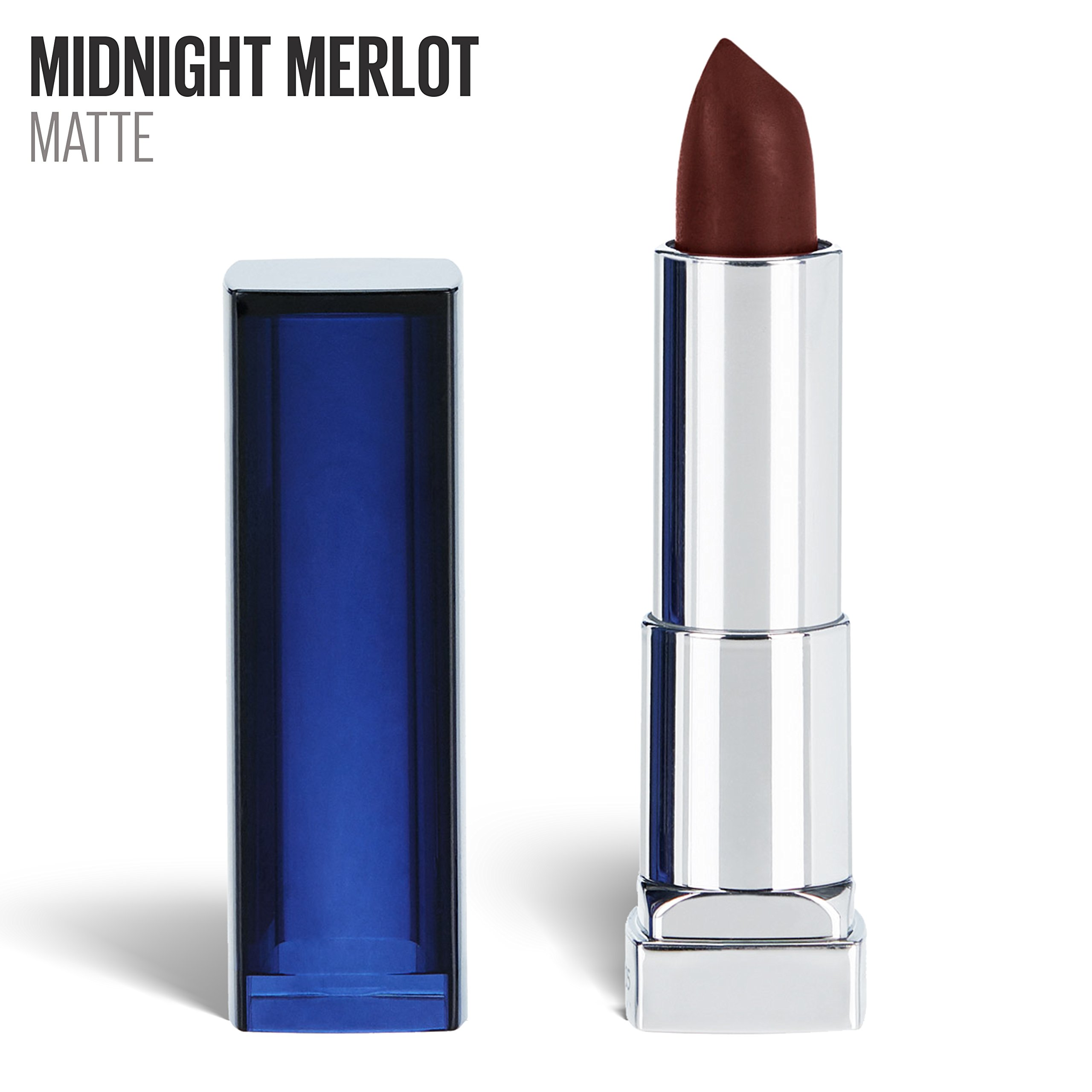 Maybelline New York Color Sensational Red Lipstick Matte Lipstick, Midnight Merlot, 0.15 oz