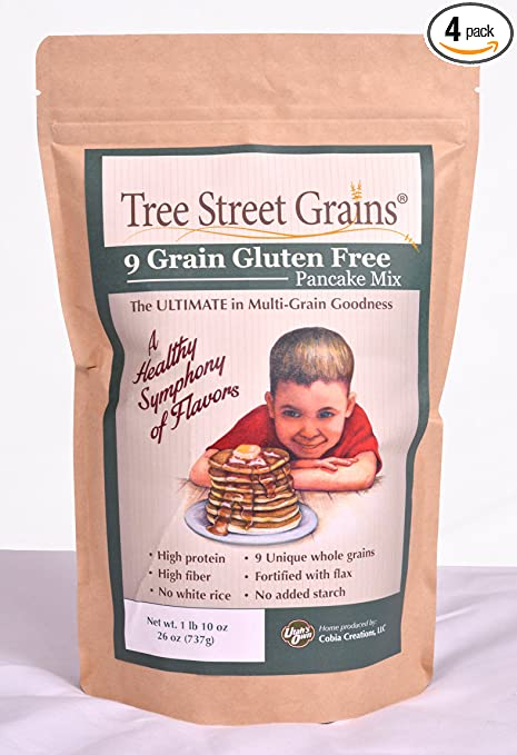 9 Ancient Whole Grain Gluten Free Pancake Mix, 26 oz, 4 pack
