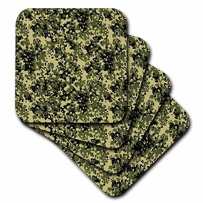 3dRose cst/_45186/_2 Woodland Camo-Soft Coasters Set of 8