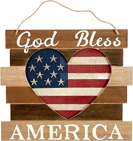 God Bless America Patriotic Flag Home Decor