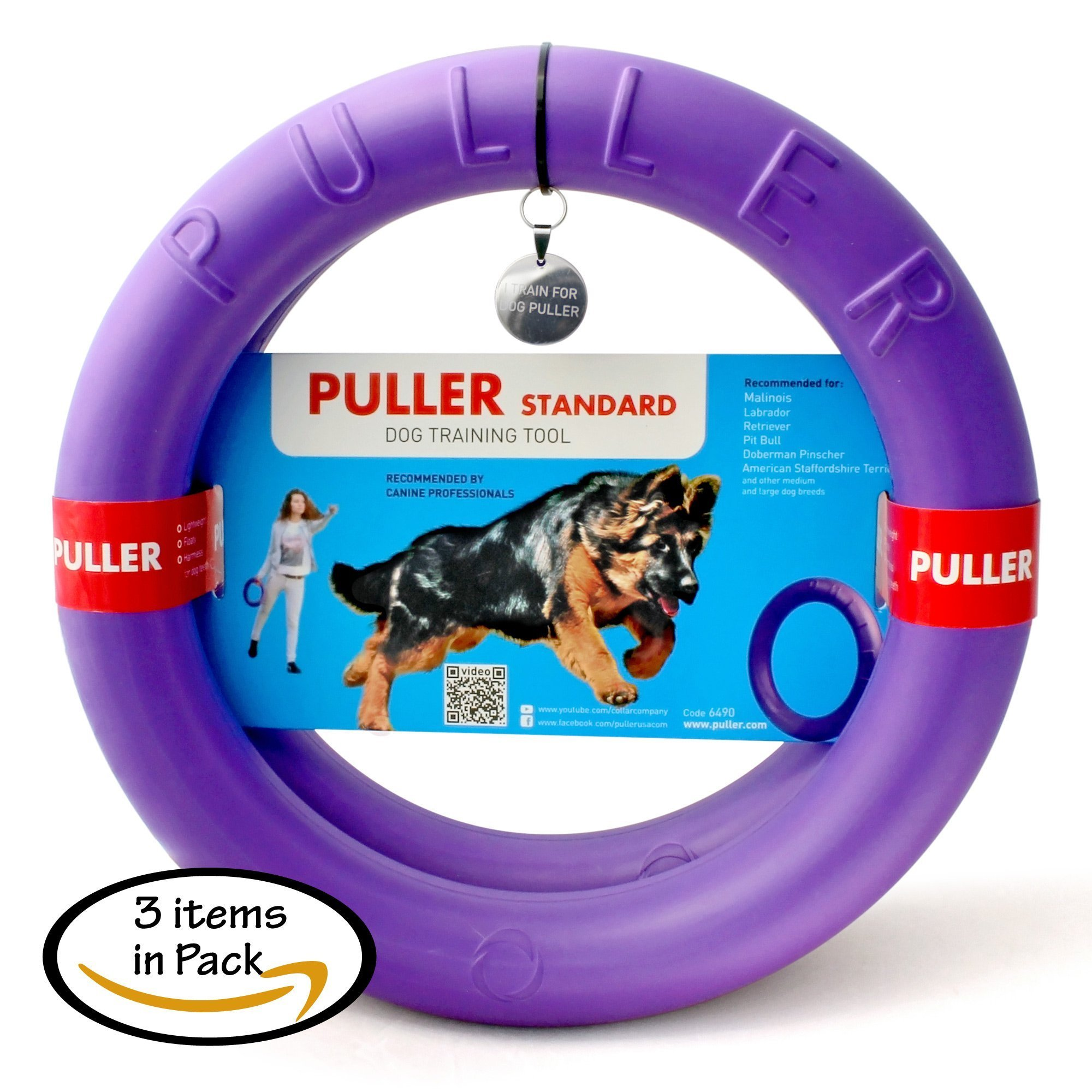Puller Standard Two rings & id tag dogs Active toy for dogs Training toys for...