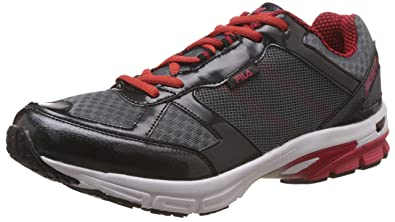 Fila Men's Fusion Lite Dark Grey and Red Running Shoes -6 UK/India (