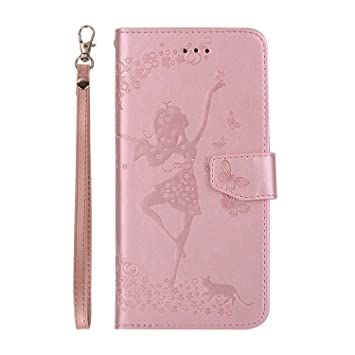 EUGO iPhone 8 Plus Funda, Cartera Cuero Funda de Piel Wallet Case para iPhone 8