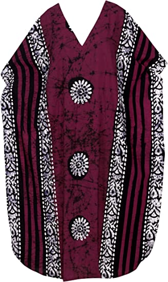 LADIES PURE COTTON EMBROIDERED KAFTAN TOP PINK NEW ref 488