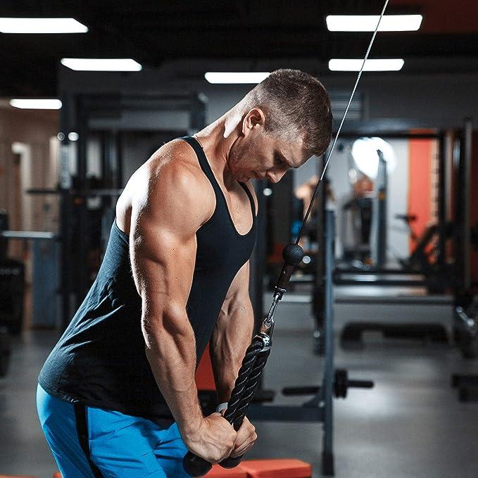RDX tríceps de fitness cuerda, unisex, Fitness Trainingsseil Trizepsseil, negro, 34-35 Zoll: Amazon.es: Deportes y aire libre