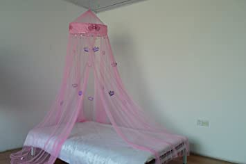 OctoRose Princess Crown Bed canopy  mosquito net for crib twin full queen & Amazon.com: OctoRose Princess Crown Bed canopy  mosquito net for ...