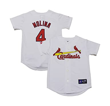 f7dc527f4 Yadier Molina St. Louis Cardinals White Youth Authentic Home Jersey  (X-Large 18