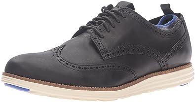 ed512487b732 Cole Haan Men s Original Grand Wing Ox Novelty Sock Oxford Black  Leather Ironstone 8 M