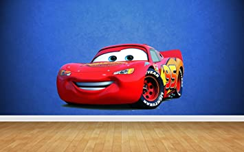 Lightning McQueen Cars Wall Stickers Art Decal Vinyl Boys Bedroom