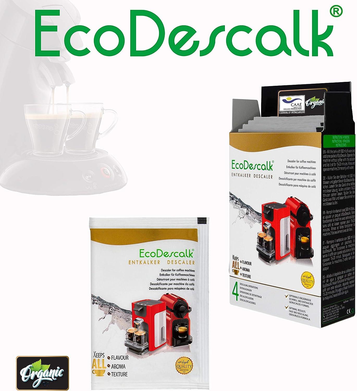 EcoDescalk Ecológico en Polvo, 4 Sobres. Descalcificador 100 ...