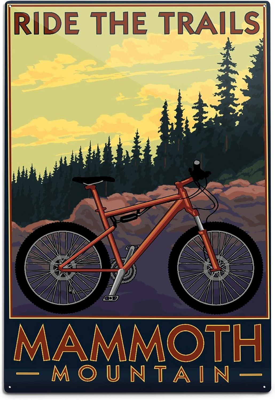 Mammoth Mountain, California – para bicicleta de montaña escena ...