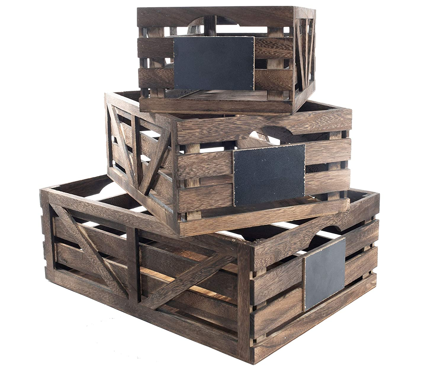 Buy Premium Home Wooden Crates: Home Dcor Wood crates for Display, Wooden Boxes for Crafts, Decorative Wooden Crate, Wood Box Storage Crate, Wooden Basket centerpieces for Home, Rustic Bathroom dcor Online at