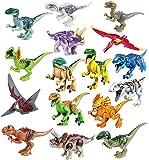 Mini Dinosaur Toy Figures Bricks CZP Tyrannosaurus Rex Building Dinosaur Toys (16PCS)