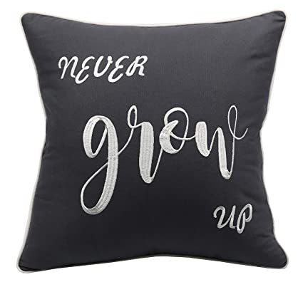 Amazoncom Yugtex Pillowcases Never Grow Uppeter Pan Quotechild