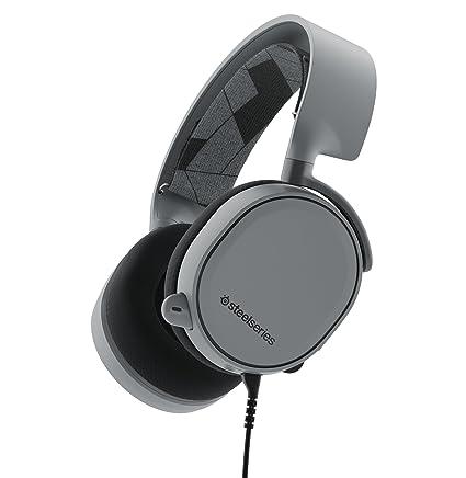 Steelseries Arctis 3 binaurale Diadema Gris Auricular Audio – Auriculares Audio (Game Console + PC