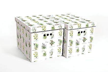 Cajas decorativa de cartón para almacenamiento, tamaño grande, 2