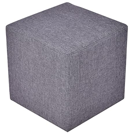 Giantex Linen Storage Ottoman Cube Square Foot Stool Seat Wood Frame Gray  sc 1 st  Amazon.com & Amazon.com: Giantex Linen Storage Ottoman Cube Square Foot Stool ... islam-shia.org