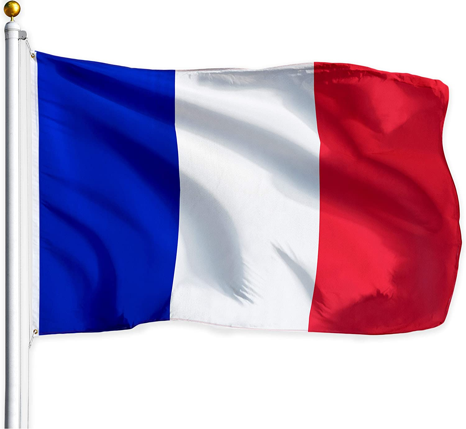 G128 - France Flag French Flag French National Flag France French Country Flag 3x5ft Printed Quality Polyester Brass Grommets Double Stitched Indoor/Outdoor