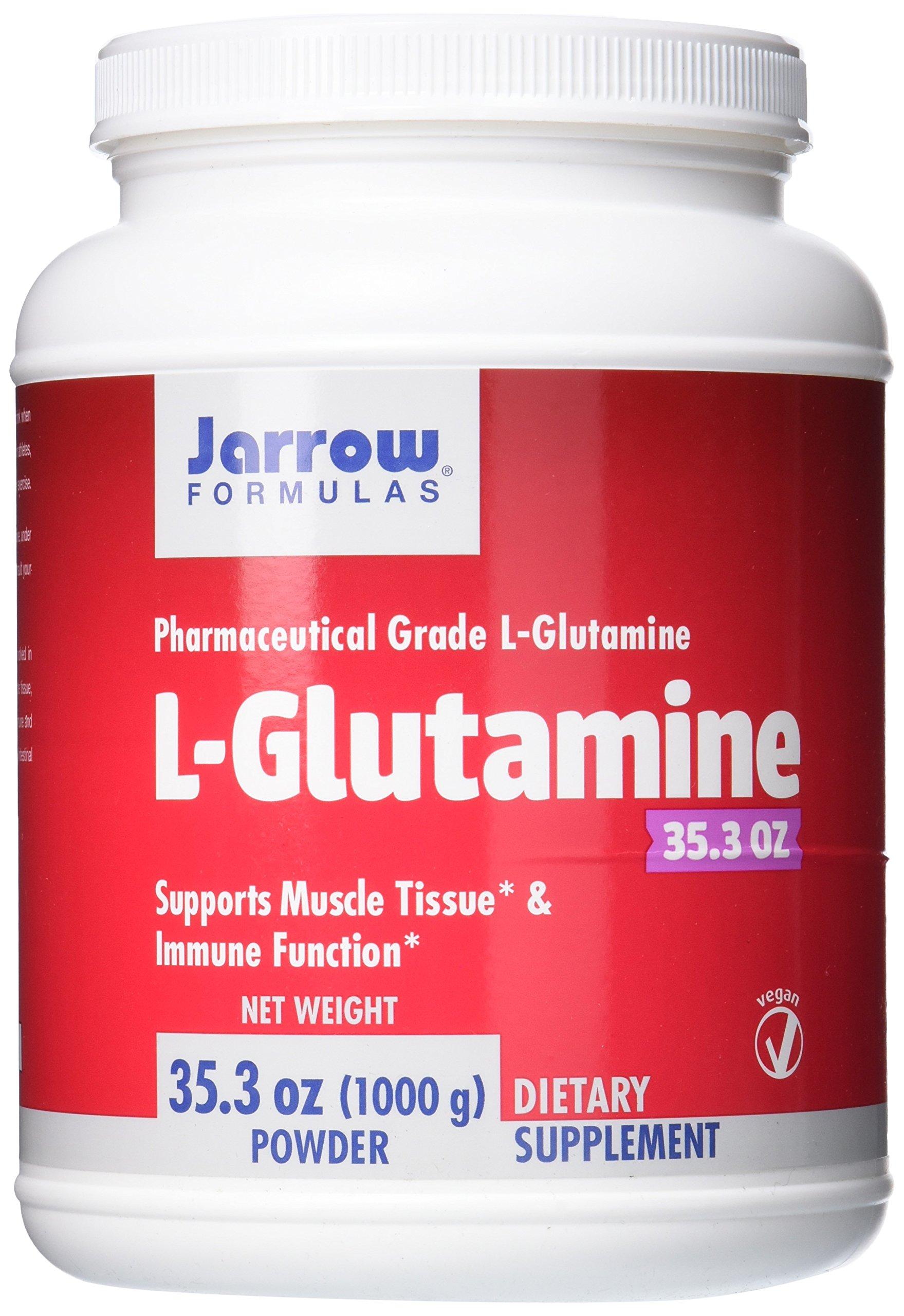 Jarrow Formulas L-Glutamine Powder, Supports Muscle Tissue, 2 g per Serving, 35.3 Oz by Jarrow Formulas