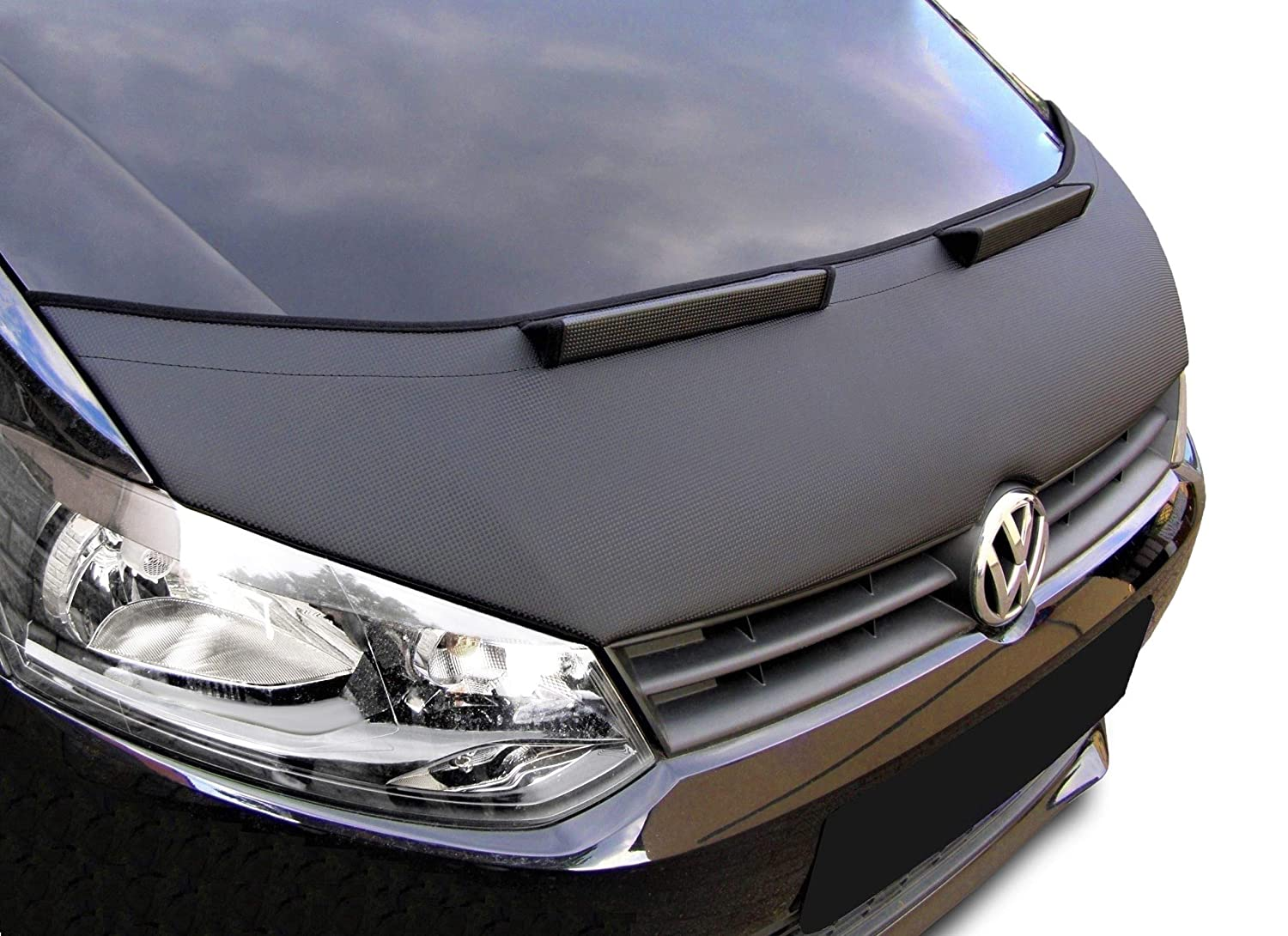 Bonnet bra Polo 5 6R CARBON Stoneguard Protector Hood Bra Car Bonnet Front End Mask Cover Tuning NEW