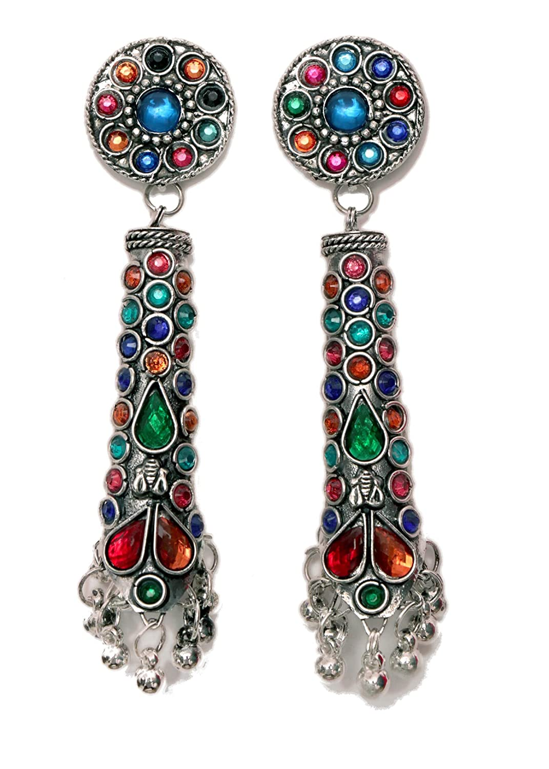 embedded stones Indian Traditional Jewellery for Stylish Women and Girls by SP Jewels Tribal Dangling Jhumki
