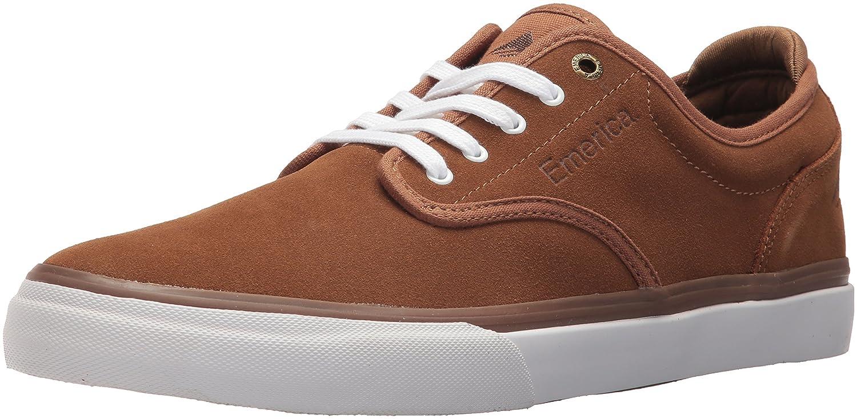Emerica Men's Wino G6 Skate Shoe 9 D(M) US|Brown/White